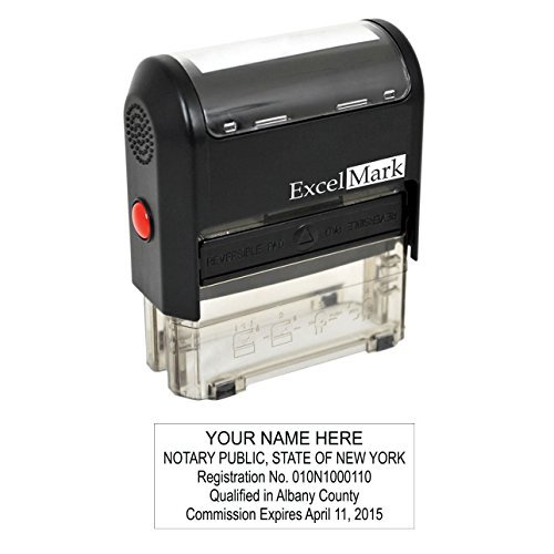 ExcelMark Self Inking Notary Stamp - New York - Custom Pocket Stamp