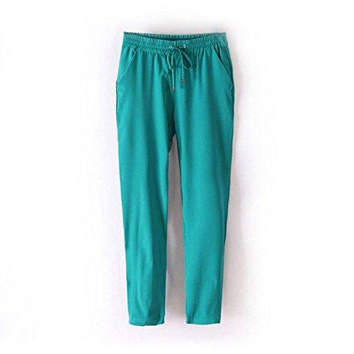 [Uniquezone Womens Candy Color Chiffon Harem Trousers] (Stretch Moleskin Bootcut Pants)