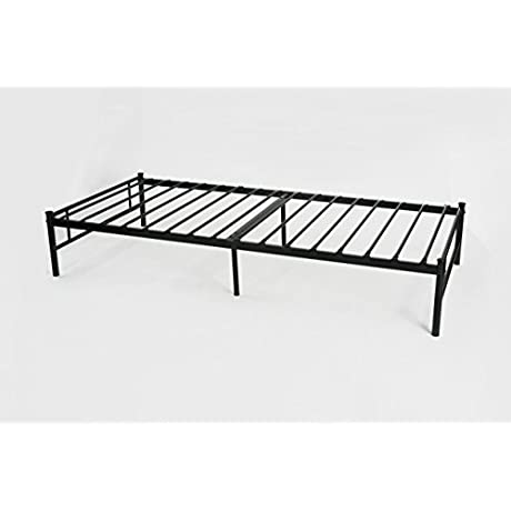 Black Metal Platform Bed Frame Twin Size Full Slats Headboards And Footboard With 6 Legs Need Mattress Only No Box Spring