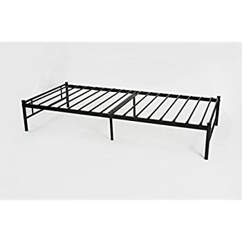 Amazon Com Dark Grey Metal Platform Bed Frame Twin Size