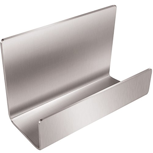 Apor Full Stainless Steel Office Business Card Holder Name Card Stand Display (Silver)