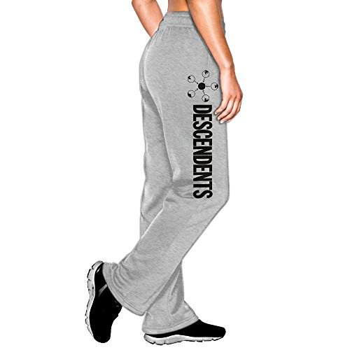 YLS Women's Descen Punk Rock Band Dents SoftVisor Vintage Sweatpants Leisure Wear Size XL - Own Athlete Your Create