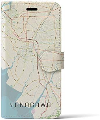 【柳川】地図柄iPhoneケース(手帳タイプ・ナチュラル)iPhone XS/X 用 全国900以上の品揃え #あなたの街もきっとある