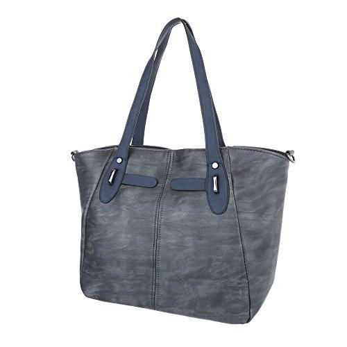 Schuhcity24 Taschen Handtasche In Used Optik Blau 9MJqAF