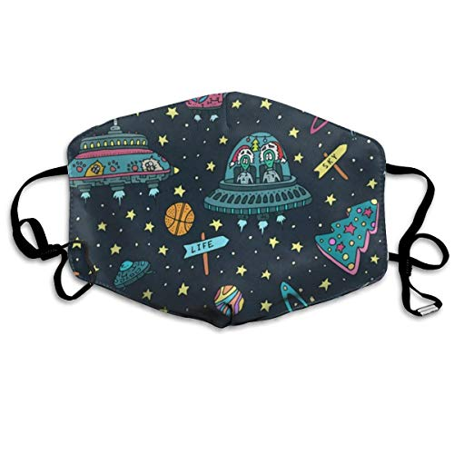 Dust Mask Planets Stars Cats Fashion Anti-dust Reusable Cotton Comfy Breathable Safety Mouth Masks Half Face Mask for Women Man Running Cycling Outdoor
