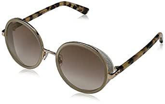 Jimmy Choo Women's Andie/S Gold Copper/Brown Mirror Gold Sunglasses