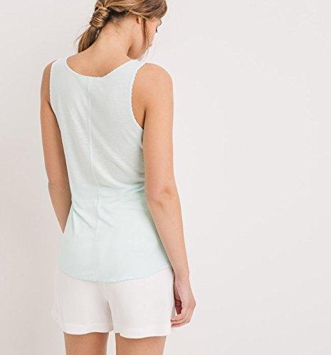 Promod Débardeur en jersey Femme Vert clair XS