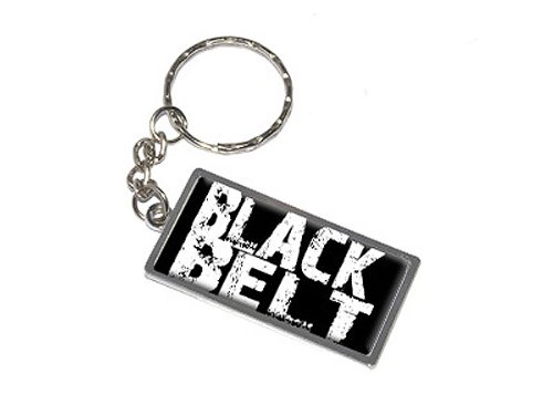 - Graphics and More Black Belt Karate Keychain Ring (K0161)