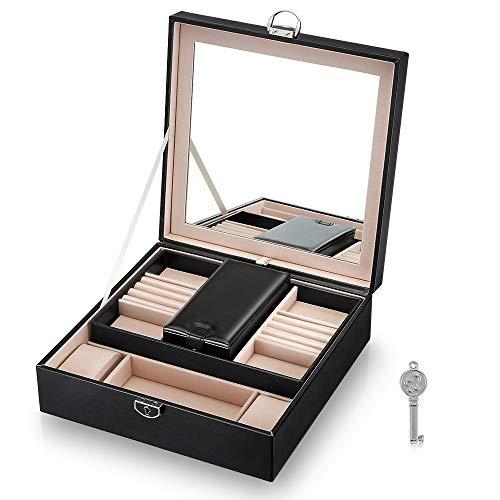 FIMEI Jewelry Box Lockable, 2 Slots Watch Box, Multiple ...