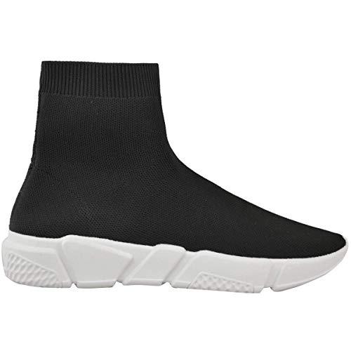 Chaussures Femme Noir Enfiler De Tricot À running Sport Empeigne En rr8qfP