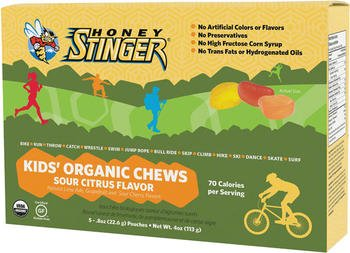Honey Stinger Kids Organic Energy Chews: Sour Citrus; Box of 5