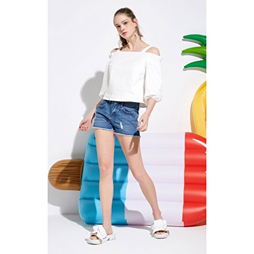 Busine Qi Vita Summer size A Hot Alta Pantaloni Jeans 155 Tight 60a Pantaloncini xsr Fang Beach Donna Ms 55fnrqgFz
