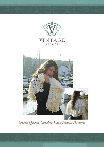 (Snow Queen Lace Shawl Crochet Pattern)