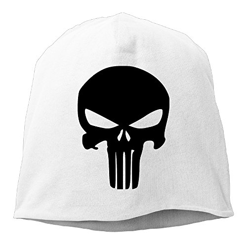 [YUVIA The Punisher Skull Men's&Women's Patch Beanie SkiingWhite Cap Hat For Autumn And Winter] (Captain Ron Halloween Costume)