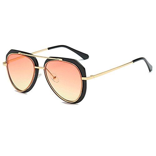 Aoligei Lunette de soleil bicolore crapaud lunettes de soleil rétro B