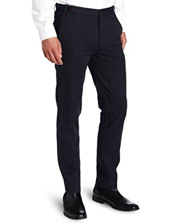 Dockers Men's Limited Offer D0 Skinny Fit Stripe Pant, Cotton/Navy - discontinued, 29W x 32L