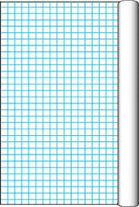 Pacon Grid Roll with 1 Inch Grid Rule - 34 1/2 Inch x 200 (Inch Grid Paper)