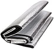 Hilarocky Aluminum Foil Camping Compact Mat Waterproof Cushion Tarp Foldable Outdoor Sleeping Mattress Insulat