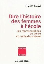 Dire l'histoire des femmes à l'école : les représentations du genre en contexte scolaire