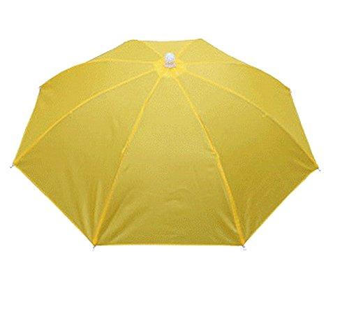 Crazy Cart Golf Fishing Camping Novelty Headwear Cap Umbrella Hat (Yellow)