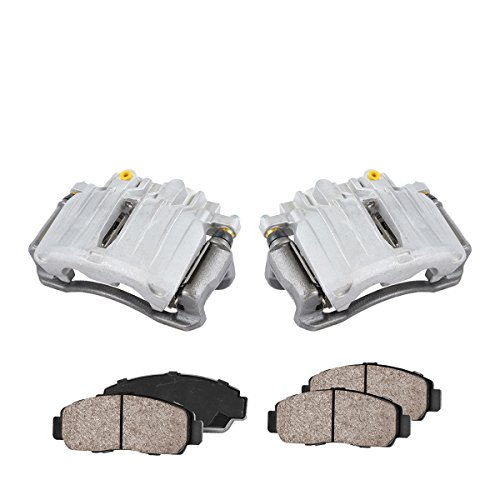 remium Loaded OE Caliper Assembly Set + Quiet Low Dust Ceramic Brake Pads ()