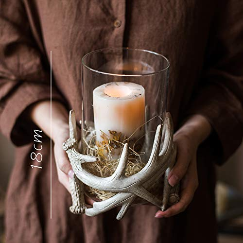 Unique Antlers Design Candle Holder Votive Candle Lantern Decoration(No Candle) by RockTrend (Image #1)