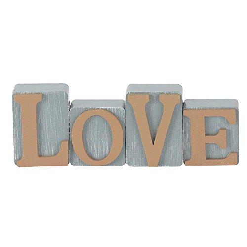 (Love Milk Paint Gray Milk Paint Gray 2.5 x 7 Wood Table Top Sign Plaque)