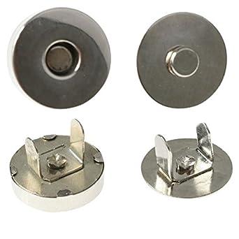 Cierres magnéticos para bolsos | Circulares | Níquel | 10 mm - 18 mm | 10 piezas: Amazon.es: Amazon.es