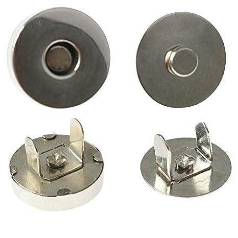 Wei/ß Sourcingmap 8-10 mm Glast/ür 4 St/ück mit Klammer magnetisch