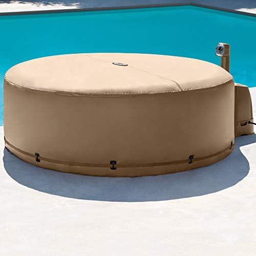 Intex 28474 Hinchable Burbujas con cobertor Full SPA, Beige, 4 ...
