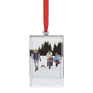 Lenox Sweetest Sentiments Cheer Hanging Ornament Frame