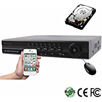 HDView 9CH 4-in-1 Security 1080P HD DVR/NVR: 8 Channel (TVI/AHD/960H) and 1 Channel ONVIF IP Cameras,1TB HDD Installed, Surge Protection CoC Commercial Grade