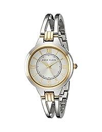 Anne Klein AK/1441SVTT Women's Open Bracelet Watch, Two-Tone