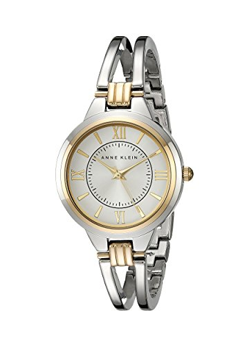 Anne Klein Gold Bangle Bracelet - Anne Klein Women's AK/1441SVTT Two-Tone Open Bangle Watch