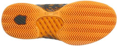 K-Swiss Performance Hypercourt Express HB, Scarpe da Tennis Uomo Nero (Dark Shadow/Blazing Orange)