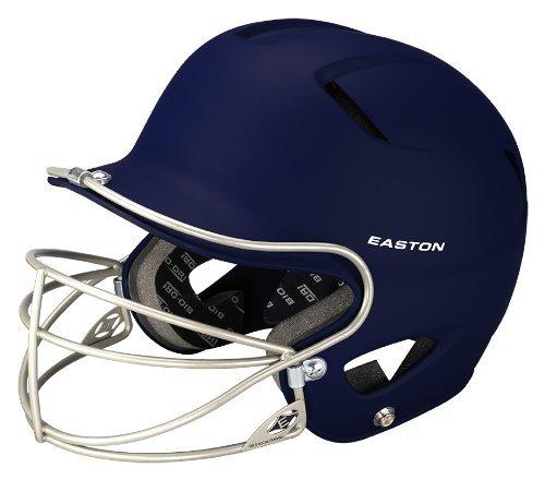 Easton Natural Grip (Easton Natural Grip Junior Batting Helmet with Mask, Navy)
