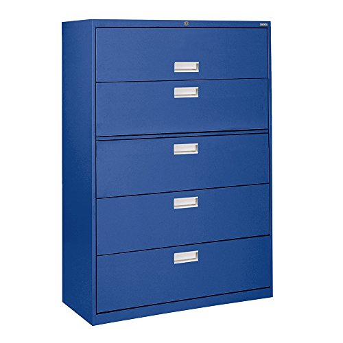 Sandusky Lee LF6A425-06 600 Series 5 Drawer Lateral File Cabinet, 19.25