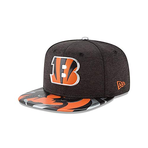 New Era NFL Cincinnati Bengals 2017 Draft On Stage 9Fifty Snapback Cap, One Size, Black