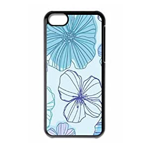 LJF phone case Pink Floral The Unique Printing Art Custom Phone Case for Iphone 5C,diy cover case ygtg570951
