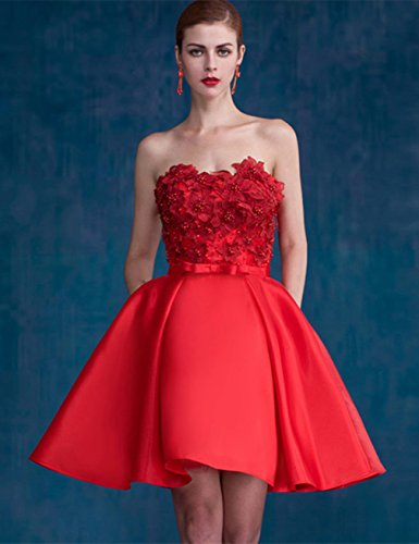 Festkleid Abendkleid mit Weinrot Bright Damen Satinband Great DL0026A Bq86UZHxn