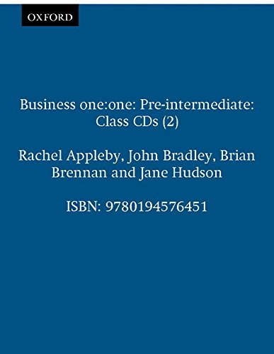 Business one:one Pre-intermediate Class Audio CDs: Comes with 2 CDs Class CDs (2) (Oxford Business English)