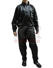 Capa De Chuva Para Motoqueiro Blusa E Calça Pvc Impermeavel Pantaneiro Tamanho capa de chuva:3G