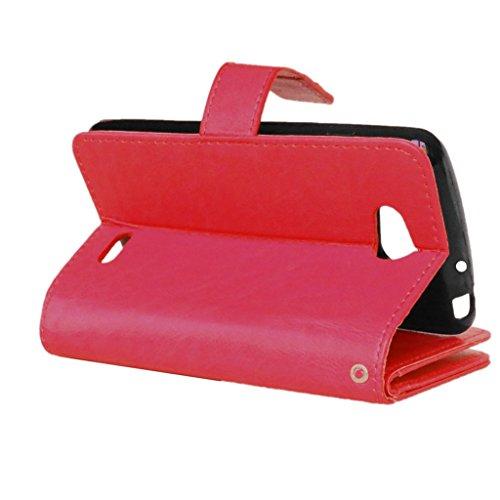 UBMSA-Neue Luxus-Leder-Mappen-Schlag-Standplatz-Fall-Abdeckung Taschen and Schalen f¨¹r LG L90 [Eingebaute 9 Kreditkarten Slots]