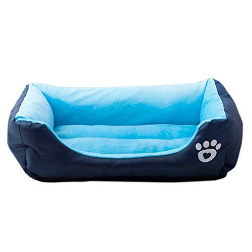Von Denim Dutch (Cywulin Soft Pet Dog Cat Cushion Mat Pad Kennel Nest Sleep Bed Warm Blanket Indoor House Animal Supplies Machine Washable (Blue, Small))