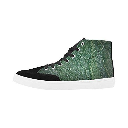 INTERESTPRINT Crocodile Skin Style Fashion High Top Shoes for Men