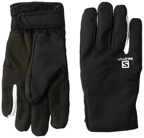 - Salomon Unisex Rs Warm Glove , Black/White, X-Large