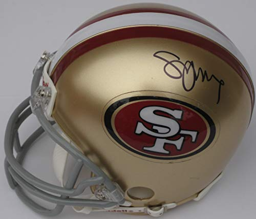 (Steve Young San Francisco 49ers signed autographed Football Mini Helmet, COA with the Proof Photo will be included)
