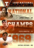 James Street, Steve Worster & Cotton Speyrer football card (Texas Longhorns) 2011 Upper Deck #NCT-SWS 1969 National Champions