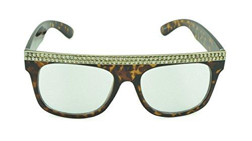 Belle Donne - Unisex Modern Bold Fashion UV Lens Sunglasses- Tortoise - D&y Review Sunglasses