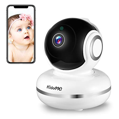 KidoMe Baby Monitor 1080P HD IP Camera Home WiFi Security Surveillance Camera for Baby Nanny Elder with Two Way Audio, Motion Sound Detection (White Need Wife and app)